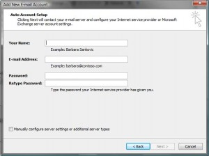 Create a New IMAP Email Account
