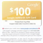 $100 Google Adwords Gift Card – Free Trial