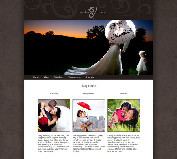 Custom WordPress Theme for Photographer Portfolio