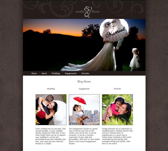 Photographer Web Design – Custom Wordpress Theme