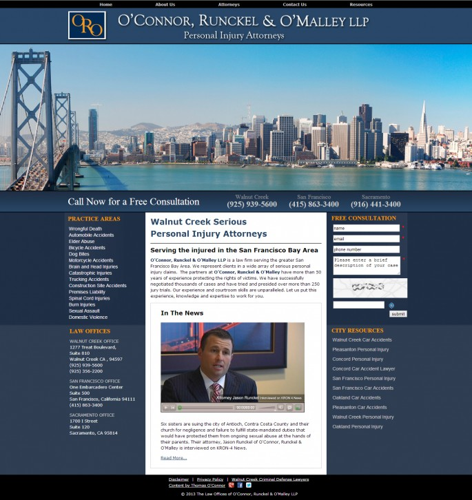 Personal Injury Attorney Web Design