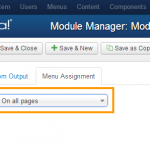 Module Not Honoring Menu Assignment in Joomla 3 with SH404SEF