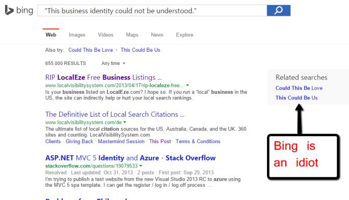 Bing is an idiot